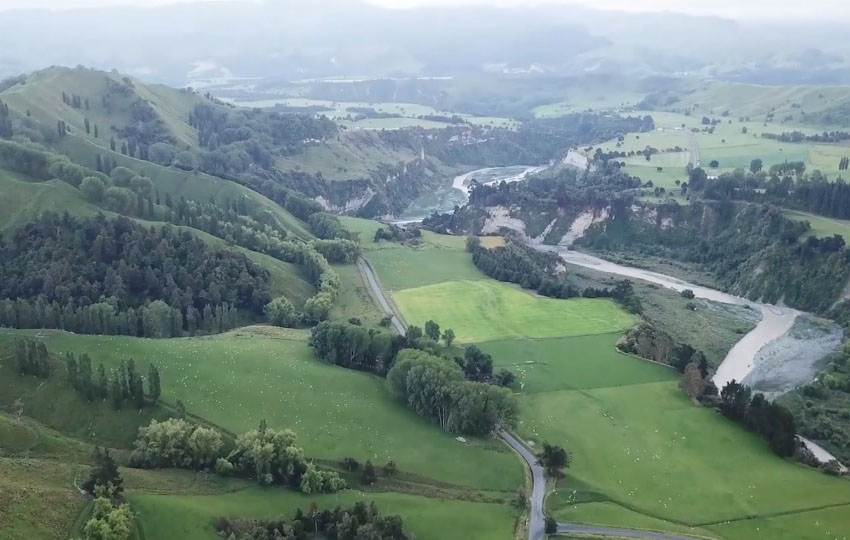 drone footage of New Zealand North Island