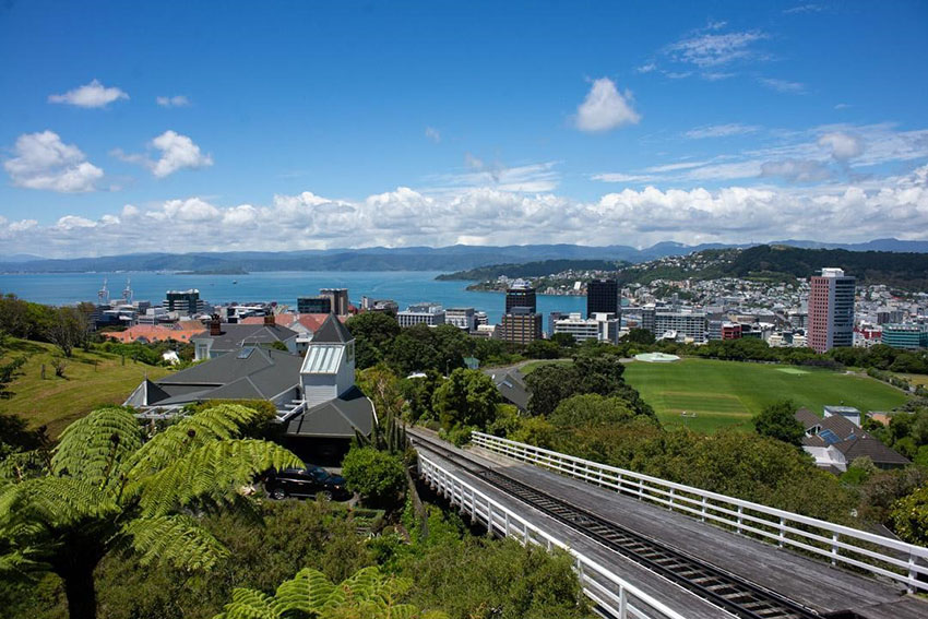 Wellington city view from the railway